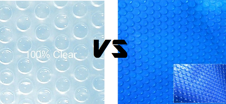Which Color is the Best: Clear vs. Blue Solar Pool Covers