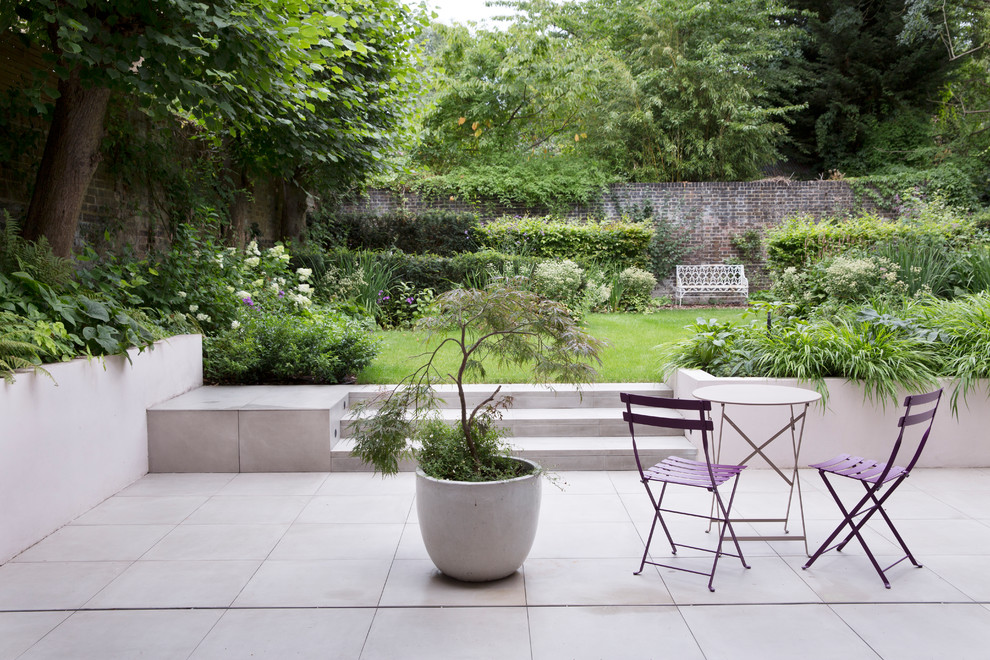 A Beautiful Walled English Garden Patio