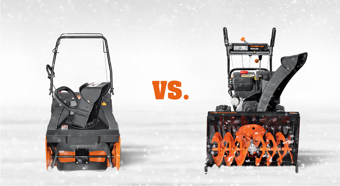 Single Stage Vs Two-Stage Snow Blower