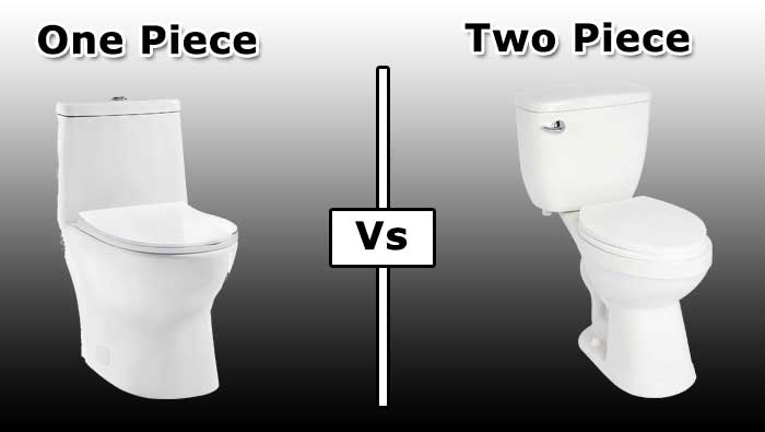 The Difference Between One Piece and Two Piece Toilets